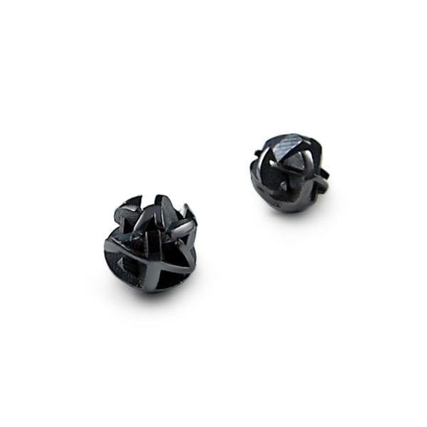 3D modelled oxidized earrings