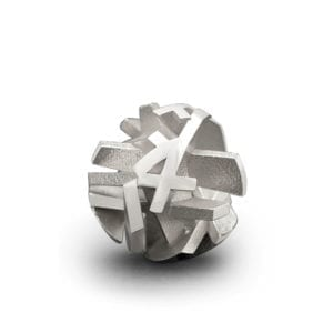 3D printed silver pendant