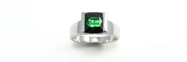 Fish ring - tourmaline, white gold and diamond engagement ring