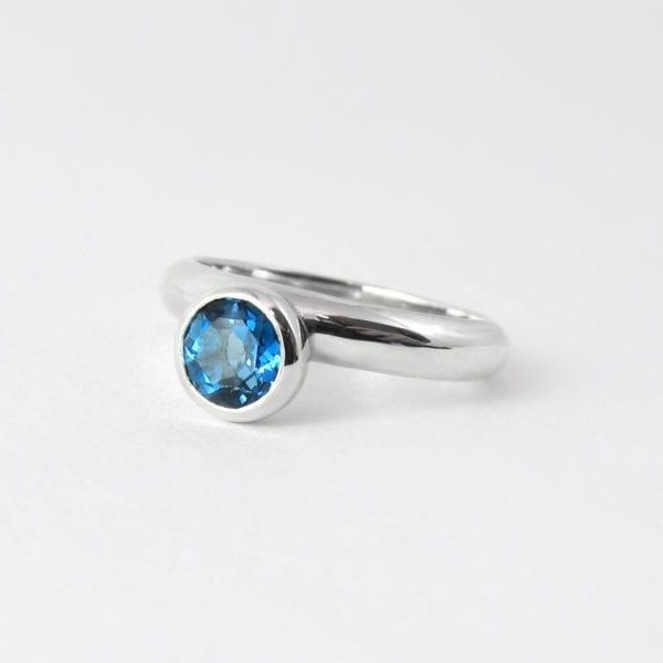 London blue topaz gemstone ring