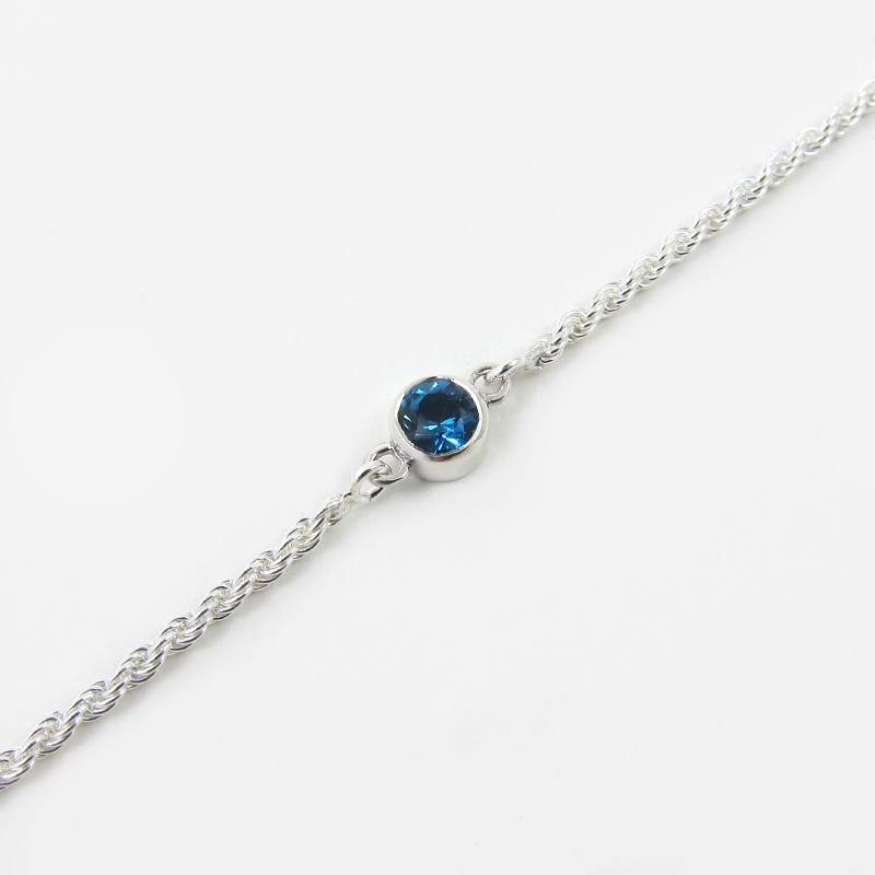 London Blue Topaz Birthstone Bracelet