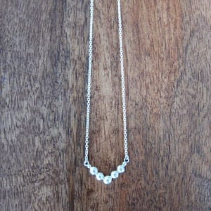 V recycled sterling silver necklace