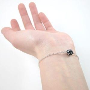 3D modelled oxidized sterling silver bracelet