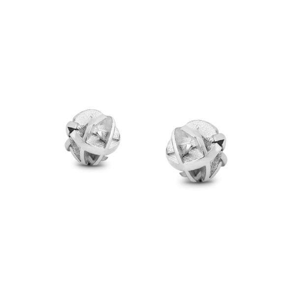 3D printed sterling silver stud earrings