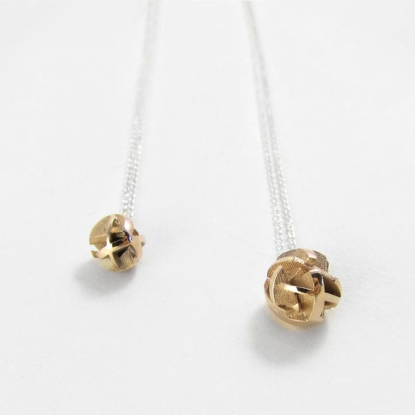 3D printed gold pendant