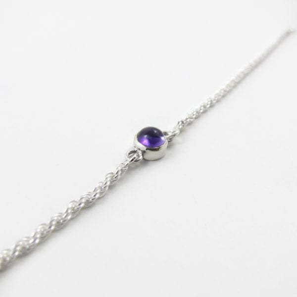 Amethyst bracelet, February birthstone