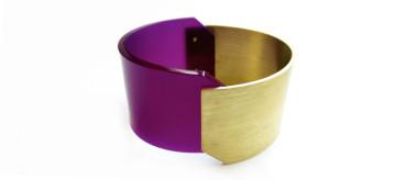 Brass and acrylic cuff