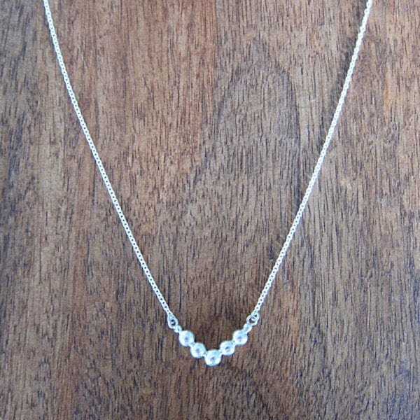 Chevron recycled sterling silver necklace