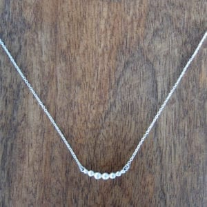 Curved recycled sterling silver necklace