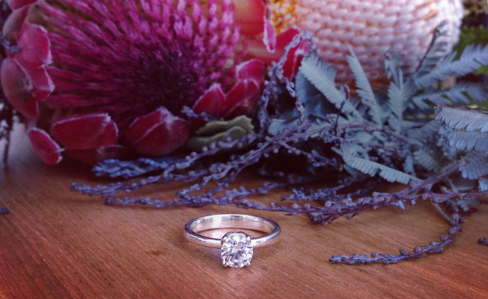 Custom wedding and engagement rings