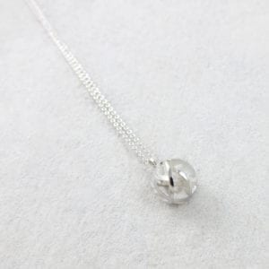 Geometric sterling silver pendant