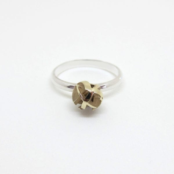 Gold and silver 3D print stacking ring