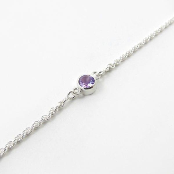 Light amethyst birthstone bracelet