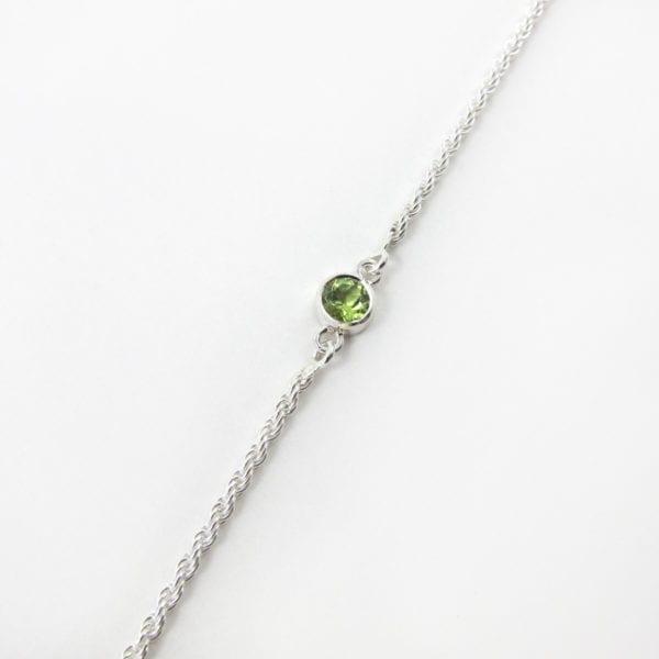 Peridot birthstone bracelet