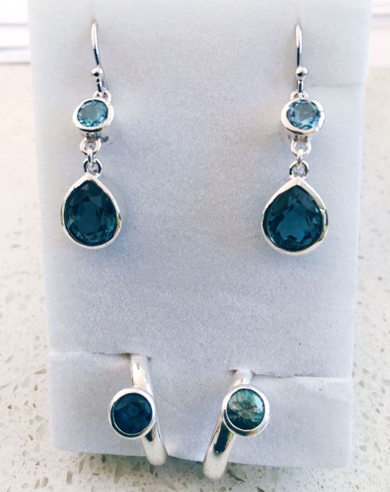 Topaz earrings and gemstone ring review