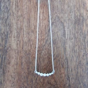 U shaped recycled sterling silver granule necklace