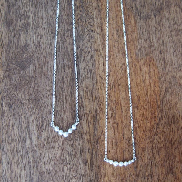 Environmentally friendly sterling silver necklace