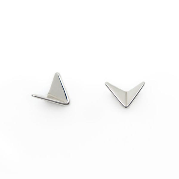Silver Paper Planes stud earrings