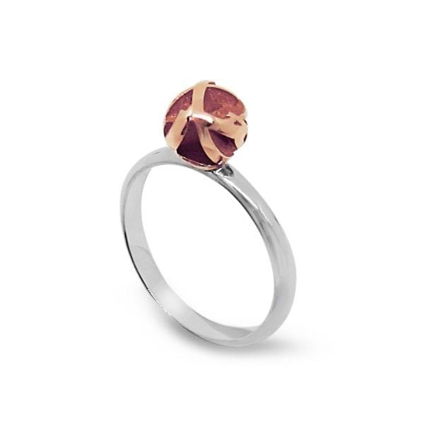 Rose gold 3D printed stacking ring