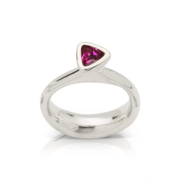Rhodolite garnet January birthstone ring