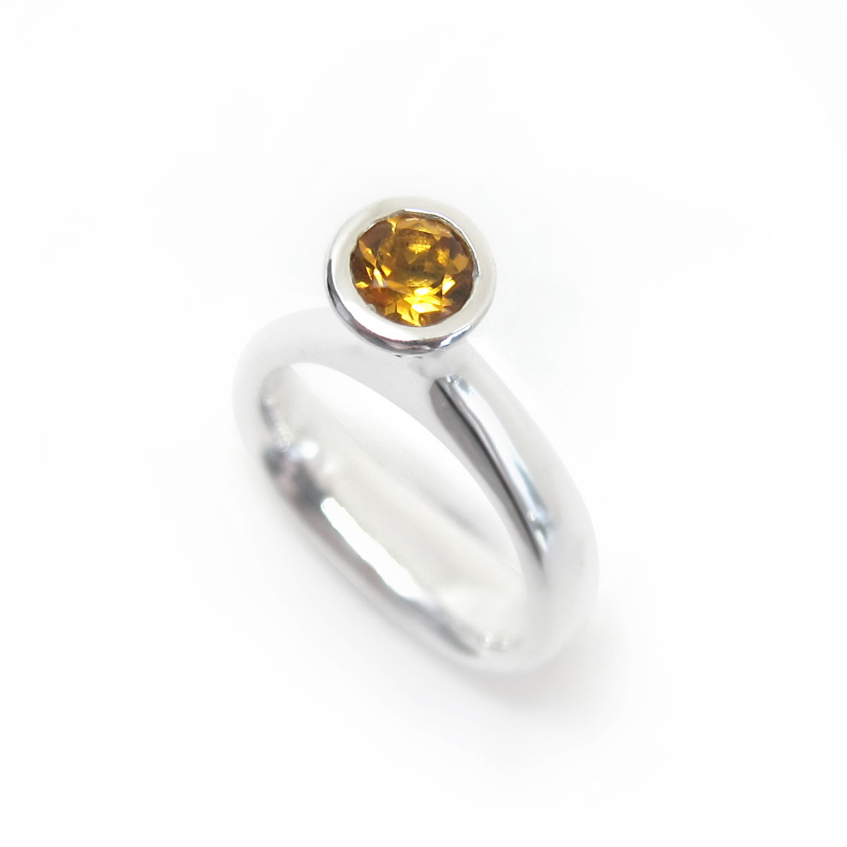 Unique citrine ring in sterling silver
