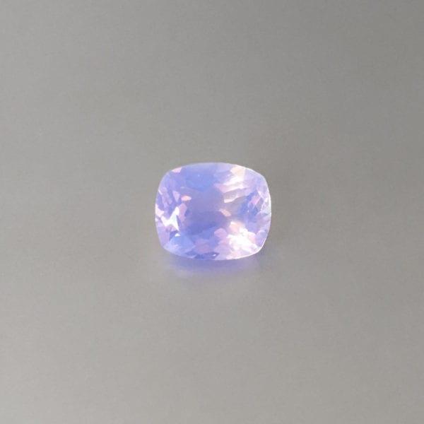 Cushion cut lavender quartz gemstone for custom jewellery