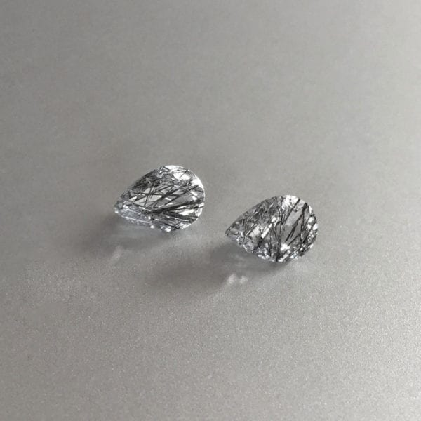Tourmalinated quartz for custom earrings or ring and necklace set