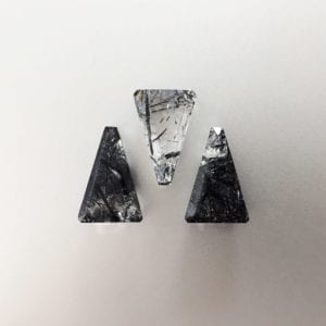 Trapezium tourmalinated quartz for statement earrings, pendants and other bespoke jewellery designs
