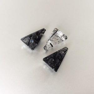 Unique gemstones for custom jewellery designs - Trapezium tourmalinated quartz