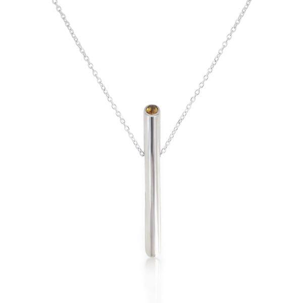 Citrine Angle necklace