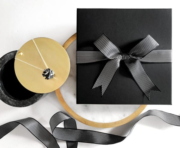 Necklace and gift wrapped present