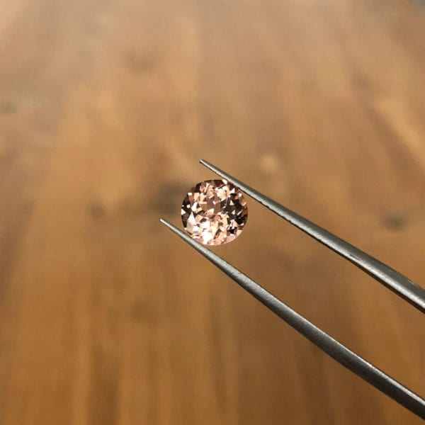 Pastel pink peach tourmaline, perfect for a rose gold ring