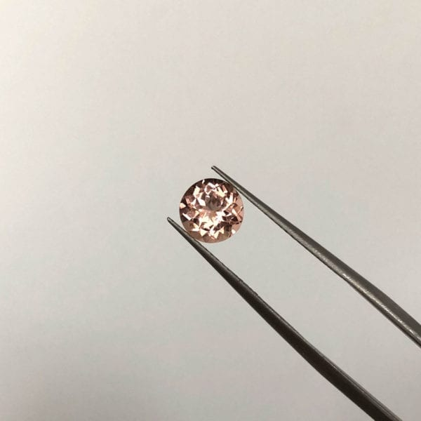 Sparkly peachy pink tourmaline for custom engagement ring