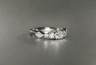 Platinum and diamond engagement ring side_Jen Levett